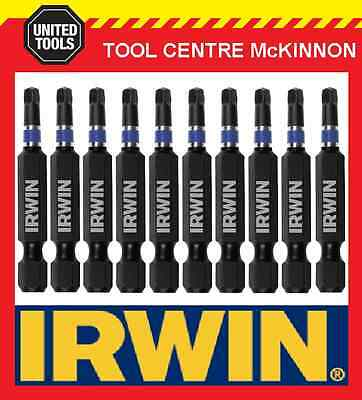 10 x IRWIN IMPACT SQUARE DRIVE SQ2 x 50mm POWER INSERT BITS FOR IMPACT DRIVERS