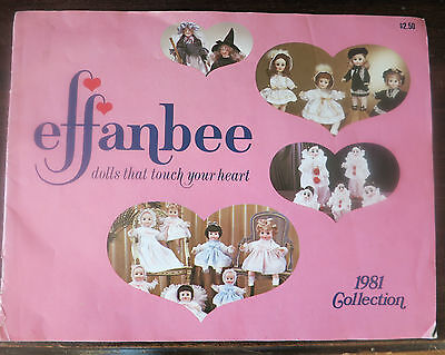 EFFANBEE DOLL CATALOG, 1981 COLLECTION, COLOR ILLUSTRATIONS, COMPLETE, NICE