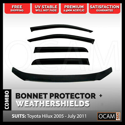 Bonnet Protector, Weathershields For Toyota Hilux 2005-07/2011 Visors