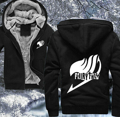 Anime Fairy Tail Clothing Thicken Jacket Cosplay Sweater Hoodie#P13