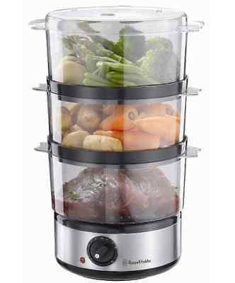 Russell Hobbs Food Steamer Stainless Steel Electric Steam Cooker Vegetables 7L