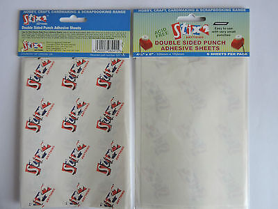 Double Sided Punch Adhesive Sheets by 'Stix2' x 6 Sheets