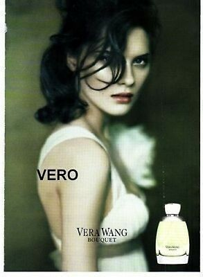 2009 magazine ad Vera Wang BOUQUET FRAGRANCE PARFUM open and sniff advertisement