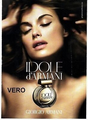 2009 magazine ad IDOLE d'ARMANI FRAGRANCE PARFUM open and sniff advertisement