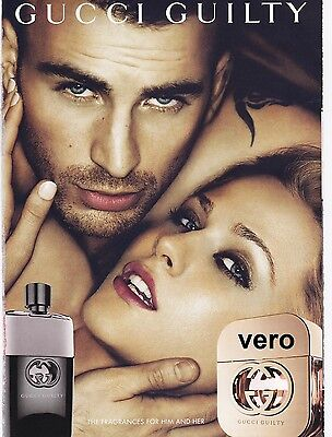 2013 magazine ad GUCCI GUILTY Fragrance Parfum Chris Evans Evan Rachel Wood