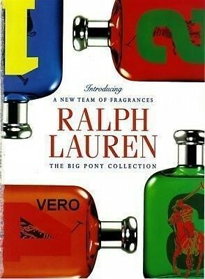 2010 magazine ad BIG PONY Collection FRAGRANCE PERFUME open + sniff Ralph Lauren