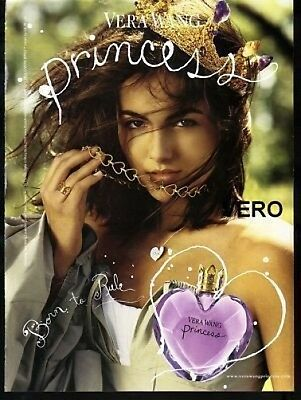 2008 magazine ad Vera Wang PRINCESS FRAGRANCE PERFUME open + sniff advertisement