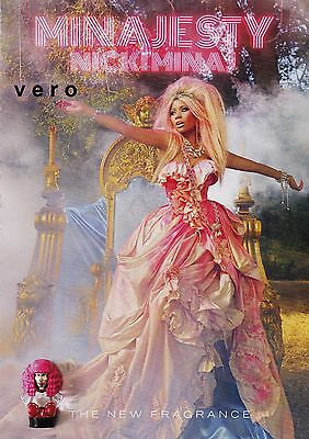 magazine print ad MINAJESTY NICKIMINAJ open + sniff the new fragrance parfume