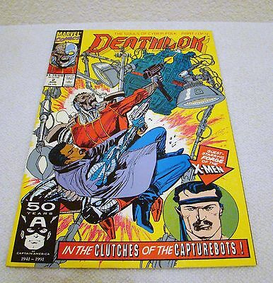 Marvel Comics Deathlok #2 Aug 1991 In the Clutches of the Capturebots Comic Book