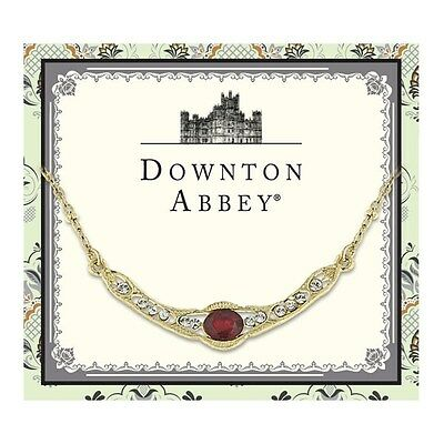 Downton Abbey Collection Ruby Red Jewel Gold Collar Necklace 17557 Free Shipping