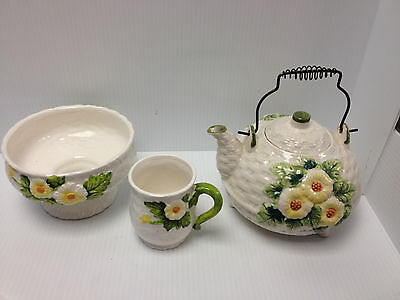 Vintage Lefton  Daisy Tea Pot Cup And Planter