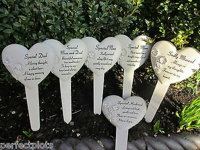 Graveside Memorial Remembrance Grave Gift-Heart Stake with diamante sunflowers