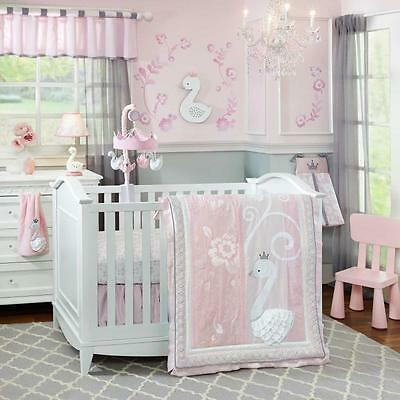 Swan Lake 5 Piece Baby Crib Bedding Set with Bumper by Lambs & Ivy