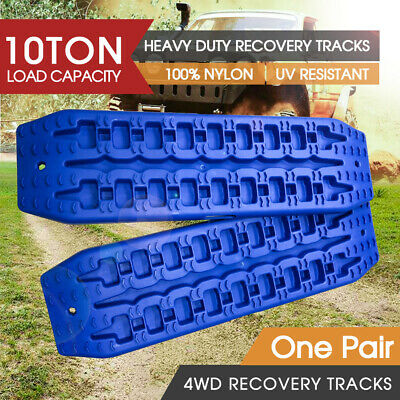 2pc 10T Pair Recovery Tracks Sand Track Sand / Snow / Mud Trax 4WD Blue NEW
