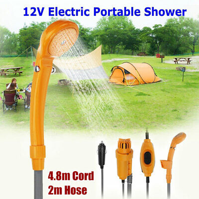 Portable Automobile 12V Shower Set Water Pump Travel Trip Camp Car Caravan Boat