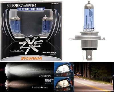 Sylvania SilverStar ZXE Two Bulbs 9003 HB2 H4 60/55W Head Light Dual Beam Hi Lo