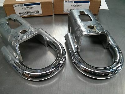 2009-2014 FORD F150 Chrome Front Tow Hooks... PAIR... Genuine Ford FL3Z-17A954-D