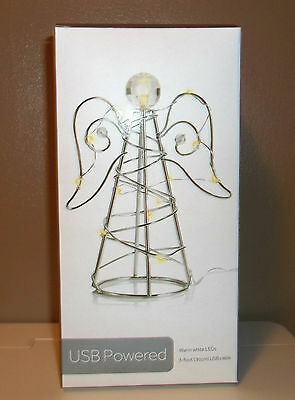 USB Powered LED Desktop Angel Figure New in box