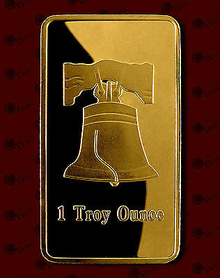 Bells, 1 Troy Ounce, 1 oz, Gold Plated bar, Clad, Commemorative