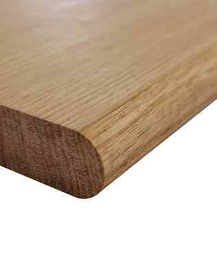 Long Solid Oak Window Board Sill 2.4M X 25Mm Thick: High Quality Bullnosed Sills