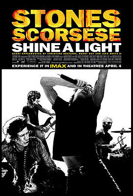 Shine A Light Rolling Stones Concert Scorsese 2008 1-Sheet Double-Sided