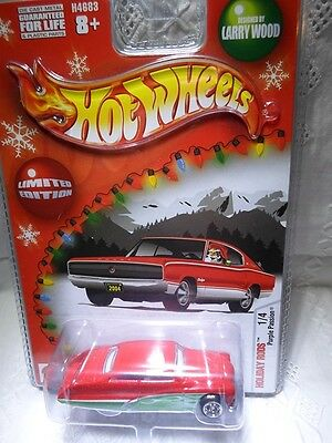 Hot Wheels Holiday Rods Purple Passion Red/Green Enamel with White Interior