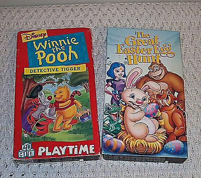 ☆Lot 2 Kids VHS Movie/Video Tapes☆Tested/Work☆Great Easter Egg Hunt/Winnie Pooh☆