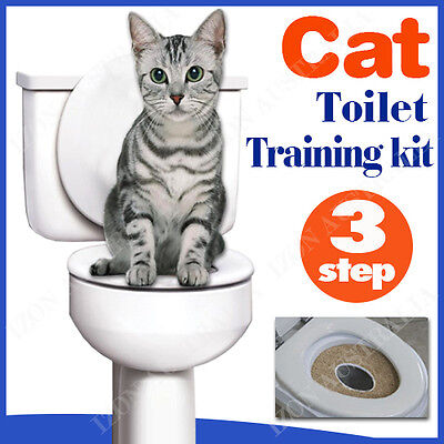 CAT TOILET TRAINING KIT Pee Potty Pet Litter Tray with Catnip FAST SHIP AU STOCK