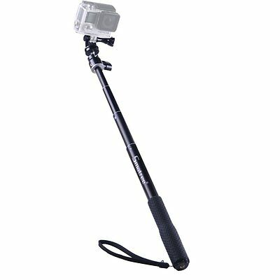 Smatree Q1 Aluminum Selfie Stick for GoPro Hero 6 5 4 3+/Session Action Cameras