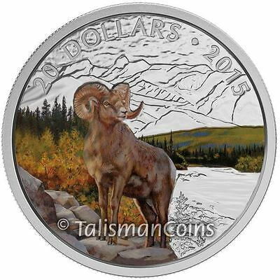 Canada 1//2 oz $10 Pure Silver Coin 2015 羊年 Year of the Sheep//Ram