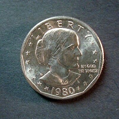 1980-D Uncirculated Susan B. Anthony Dollar From Sealed Mint Sets Never Touched