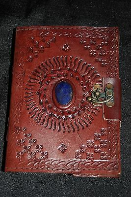 Embossed Greenman 5 X 7 In. Leather Bound Journal 120 Leaf