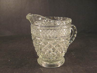 small clear glass Creamer with American design