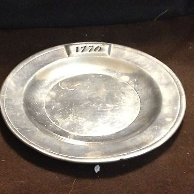 BREAD PLATE WILTON ARMETALE 1776 DESIGN ABOUT 6""