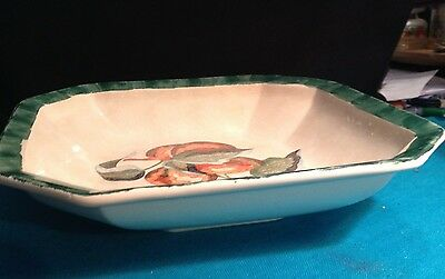 LARGE VINTAGE CERAMIC FRUIT BOWL MADE IN ITALY GREAT COUNTRY LOOK 13 X 13