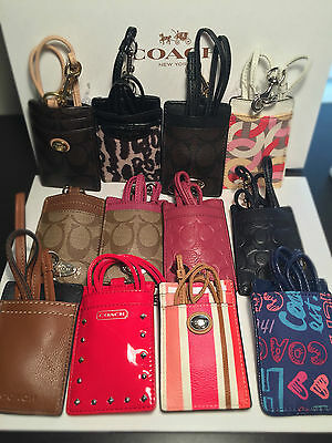 Coach Print ID Lanyards case holder Signature NWT 100% Authentic Coach