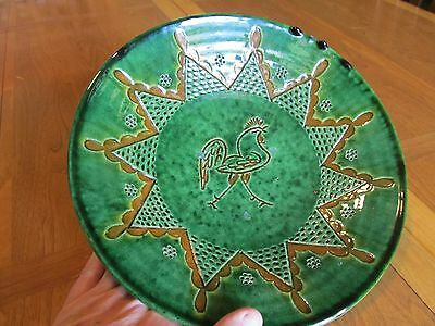 Paco Tito Ubeda Majolica Footed Bowl Plate Rooster Exquisite detailed work!