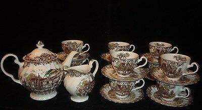 Heritage Hall Tea Set Service for 10 Made in Staffordshire England