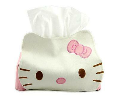 Hello Kitty Pink and White  paper Tissue Box leather cute car accessories
