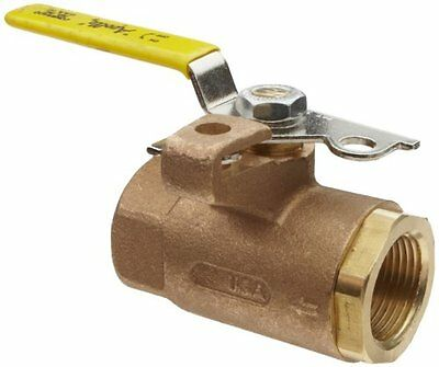 Apollo 75-100 Series Bronze Ball Valve with Automatic Drain  Two Piece  Inline