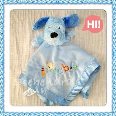 NEW - Carter's Child Of Mine Lovable Blue Puppy Dog Security Blanket Lovey.
