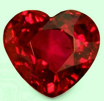 .5 ct Ruby Heart New Vintage Genuine Corundum Swiss Made Synthetic Ruby 5 x 5 mm