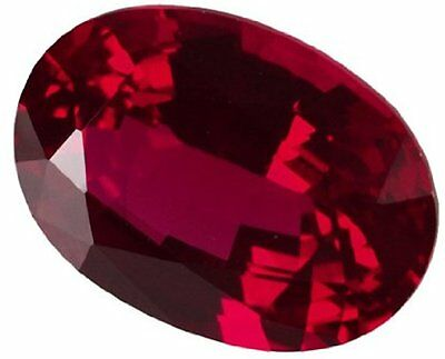 1.5 ct Ruby Oval New Vintage Genuine Corundum Swiss Made Synthetic Ruby 8 x 6 mm