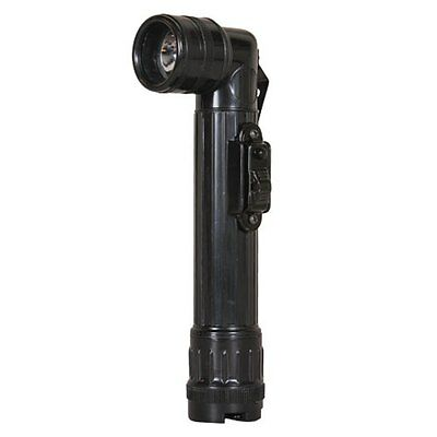 GI Military Mini LED Angle head Flashlight Black AA Army Marines AF Navy Police