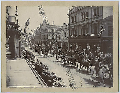 1901 PHOTO VISIT TO ADELAIDE BY DUKE OF CORNWALL & YORK RUNDLE ST i91
