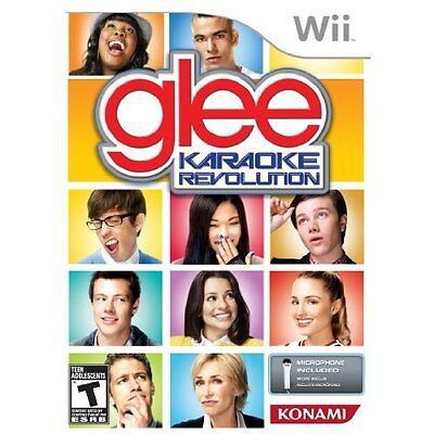 Karaoke Revolution Glee Bundle Nintendo Wii Microphone Bundle Disk Only #45214