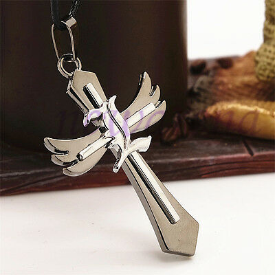 Cosplay  Alloy Necklace Cross L Pendant Gift for Anime Death Note +Chain New