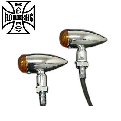 Motorcycle Indicators Blinkers Chrome Bullet Vulcan Shadow Intruder Xvs650 Xv250