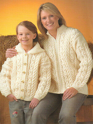 Free Knitting Pattern Ladies Aran Jacket : Ladies Aran style Jacket- Knitting pattern- Lovely vintage ...