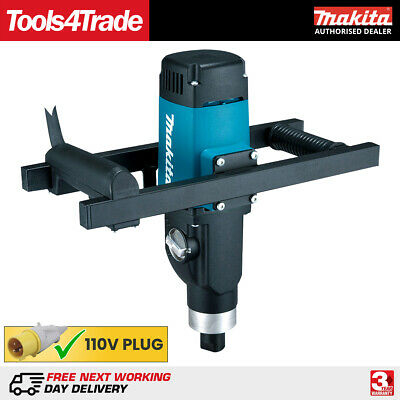 Makita UT1600 110V Variable Speed Cement/Plaster Paddle Mixer Up to 80Kg 1500W